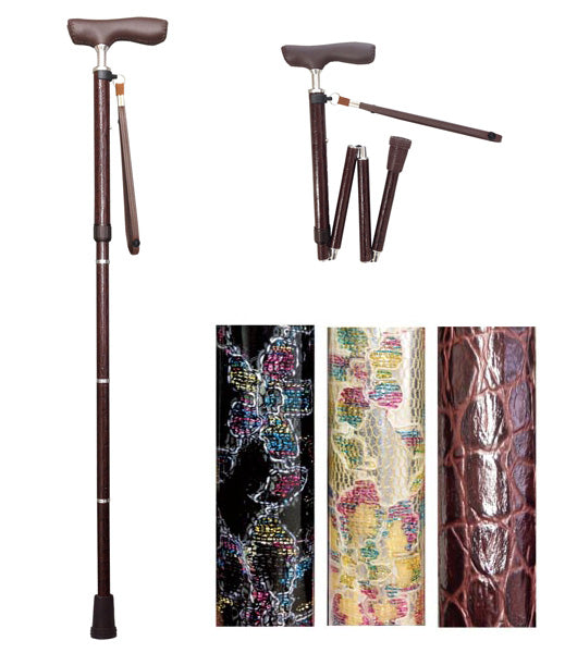 Shima Product Walking Cane - Premium Folding Aluminium Slim Neck Telescopic DX Walking Stick 折りたたみジョイントDXステッキ