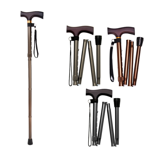 Ichigo Ichie Walking Cane - Aluminium Folding Telescopic Walking Stick(Dark Green/Brown/Black)