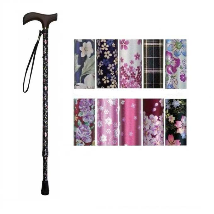 Welfan Cane - Dream Life Stick Patterned Telescopic Cane(Slim Type) 夢ライフステッキ 柄杖伸縮型 スリムタイプ