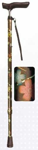 Shima Product Walking Cane - Japanese Patterned Telescopic Cane 伸縮ジョイント 和柄ステッキ