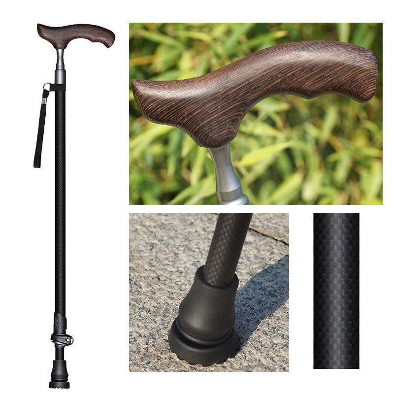 Pioneer Walking Cane - Carbon Fiber Slim Neck Telescopic Cane