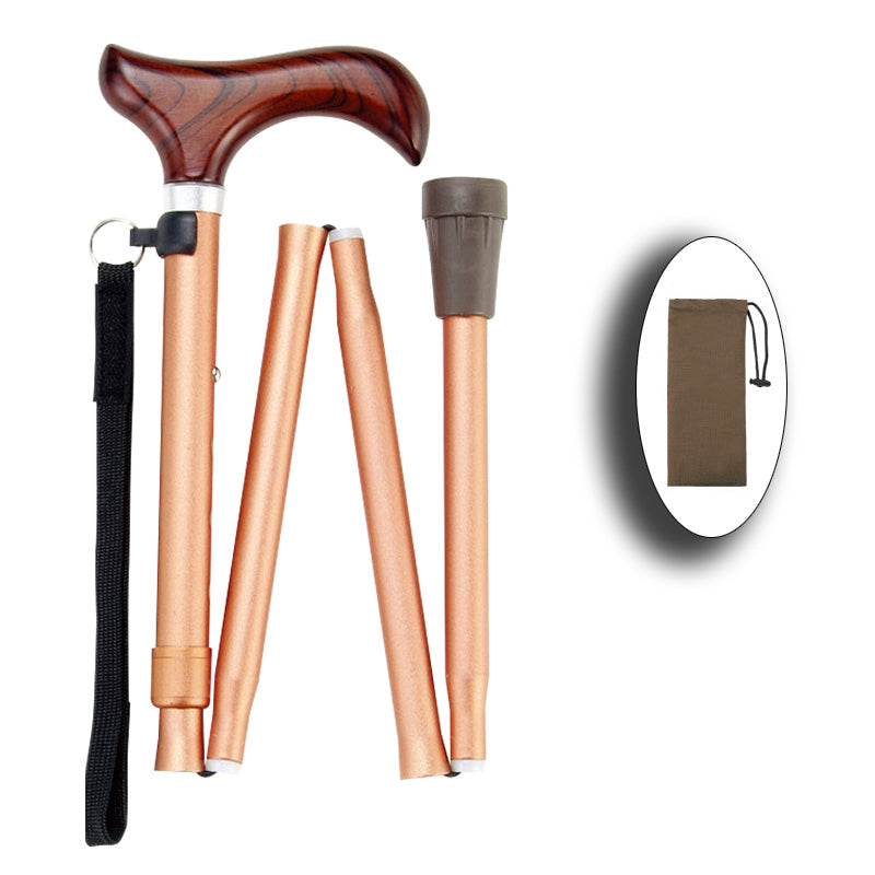 Ichigo Ichie Walking Cane - Aluminium Folding Telescopic Walking Stick(Blue/Champange Gold/Purple/Brown/Black)