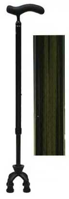 Shima Product Cane -  Carbon Fiber Slim Neck 4-point Movable Cane(Small Type) カーボン四点可動式スモールタイプ カーボン柄グレー