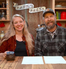 josh and carolyn pantry chat homesteading family