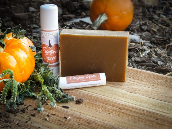 pumpkin scented skin care made with real pumpkin