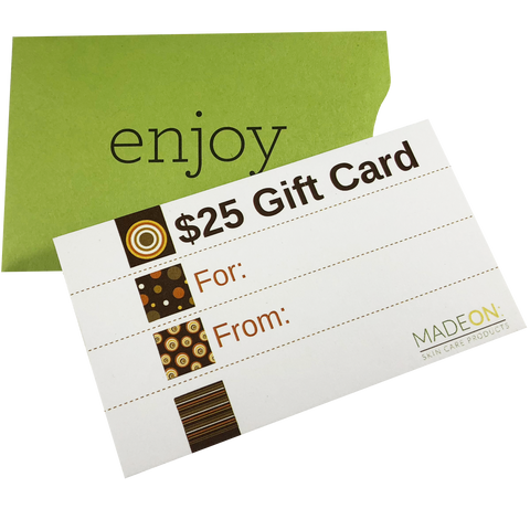 $25 MadeOn Gift Card (physical)