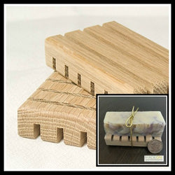 Wood Soap Pallet (pack of 2 or 1 with 1/2 bar soap)