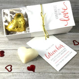 BEESILK Heart Shaped Lotion Bars (unscented, 2 in box)