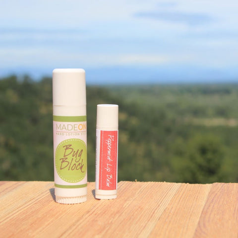 Bug Block Stick & Peppermint Lip Balm Combo (UB)