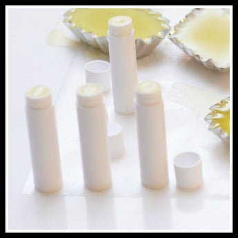 Pack of 10 empty lip balm tubes