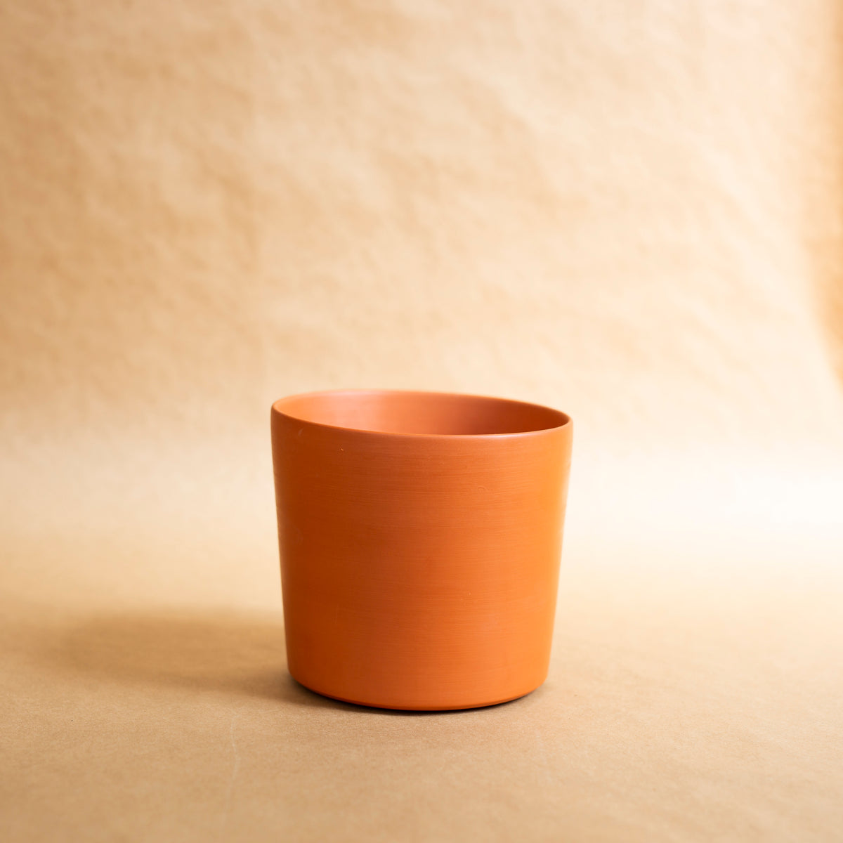 Reed Cache Pot: Terracotta