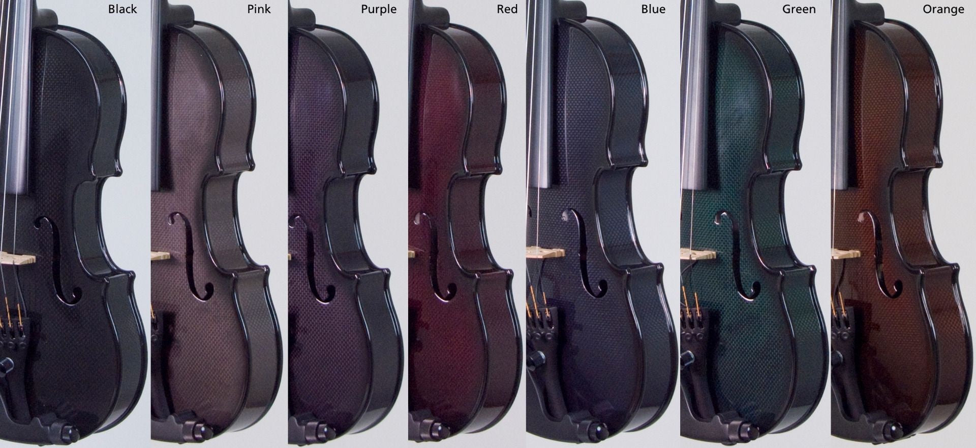 Acoustic Electric Carbon Fiber Violins