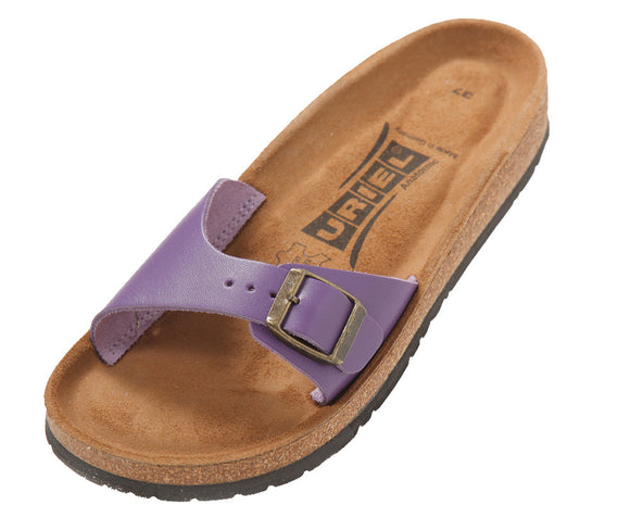 Uriel Women's Anatomic Natural Cork Leather One Strap Sandal