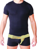 Uriel Meditex Inguinal Groin Hernia Belt contains a soft pad that applies gradual pressure and support to the weakened muscles of the groin with focused compression on the hernia. The inguinal hernia truss provides relief from a reducible inguinal hernia - post or pre-surgery. Will provide you with the support and comfort needed to maintain your active lifestyle. Can be used while swimming or showering. The belt has no metal parts which eliminates any potential embarrassment when going through scanners
