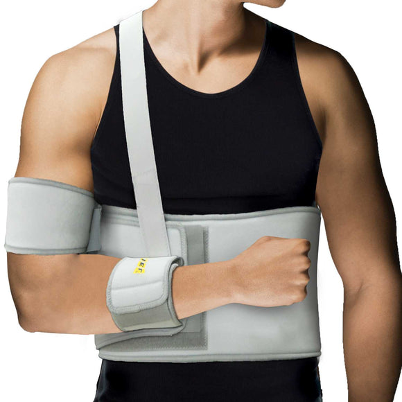 Uriel Arm Shoulder Immobilizer Support is recommended for post-surgical shoulder immobilization. Rotator Cuff, Dislocated AC Joint, Labrum Tear, and shoulder pain