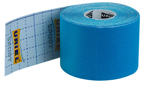 URIEL Sport Waterproof Kinesiology Tape | Latex Free Water Resistant Kinetic Uncut | 2 in x 16.4 ft (5 cm x 5 m)
