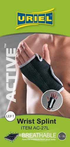 URIEL Active Adjustable Neoprene Wrist Splint  (One Size S-XL)