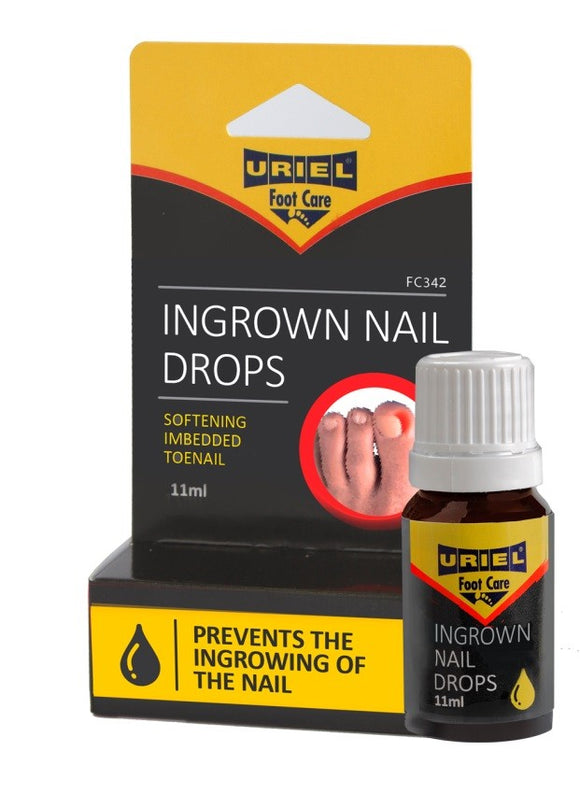 Uriel Ingrown Toenail Drops for softening embedded toenails and calloused skin.  Prevents ingrown toenail, Prevent onychocryptosis. simplifies nail clipping, and supports healthy nail regrowth and straightening of the nails. Simply apply drops to affected toe with custom designed applicator. Most effective treatment available without a prescription. onychocryptosis  Gotas para uñas encarnadas. Uriel Ingrown Toe Treatment Over the Counter. Treatment at home.  Dr. Scholl Gehwol Fluid