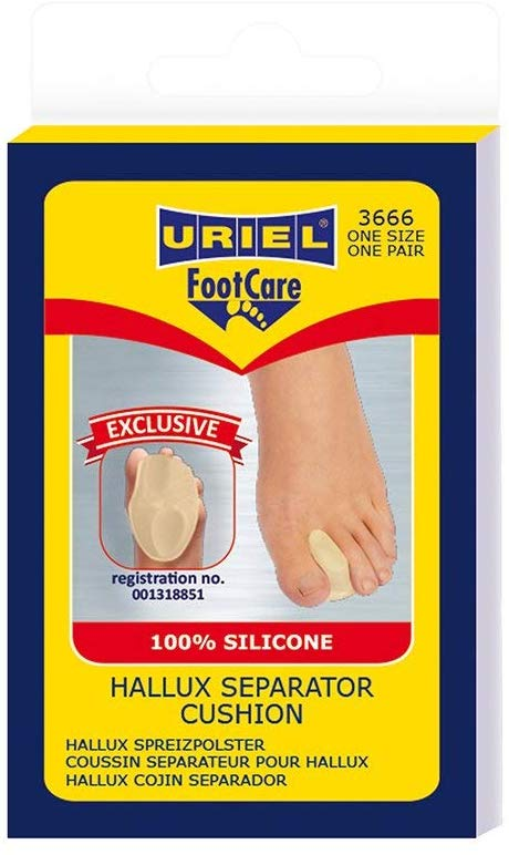 URIEL Hallux Valgus Bunion Separator Cushion | Toe Separator And Metatarsal Support Combination