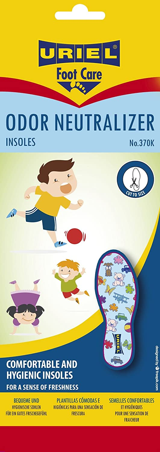 URIEL Children's Comfortable, Lightweight and Anti-Bacterial Insoles - Trim-to-Fit Pair