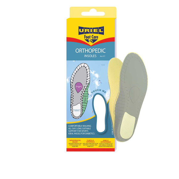 URIEL Orthopedic Insoles With Metatarsal Pad and Inner Arch Support