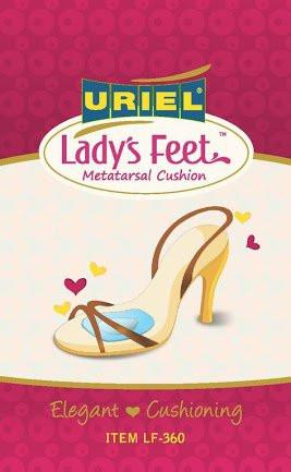 URIEL Lady's Feet Metatarsal Silicone Cushions for the Forepart of High-Heeled Shoes