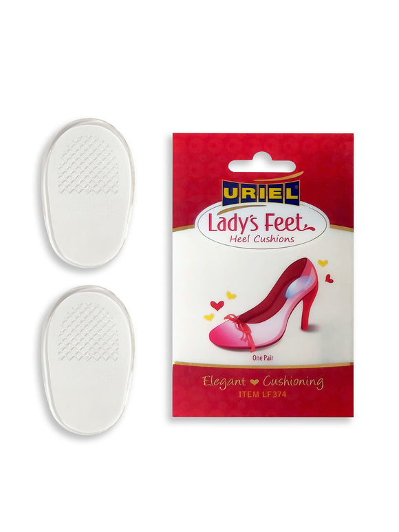 URIEL Lady's Feet Silicone Heel Cushions for High-Heeled Shoes