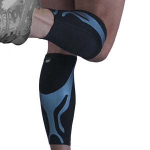 URIEL Compression Calf and Shin Sleeves | Injection Silicone Compression Taping Sleeve (Pair)