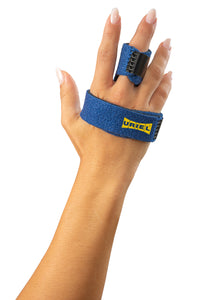 Uriel Trigger Finger Splint. Used to treat stenosing tenosynovitis (aka trigger finger) to avoid painful surgery Helps alleviate the locking, popping, bending, swelling, soreness and stiffness of your finger joint Solid aluminum splint provides maximum support Allows you to resume regular activities including typing, cooking, driving and basketball Can be worn on any finger or thumb, including middle, index, ring or pinky on either hand