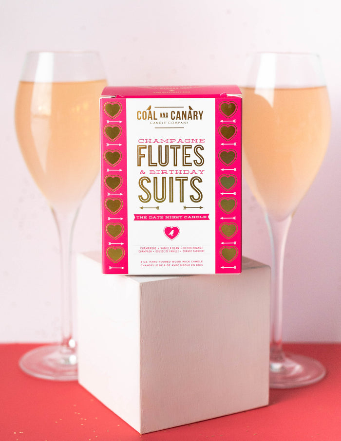 CHAMPAGNE FLUTES & BIRTHDAY SUITS