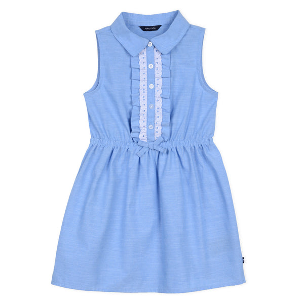 Nautica Girl Ruffle Chambray Dress