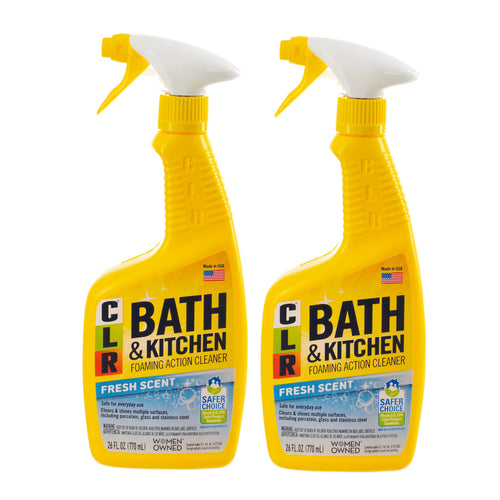 "Bath & Kitchen Foaming Action Cleaner Fresh Scent 26 oz by CLR ""2-PACK"""