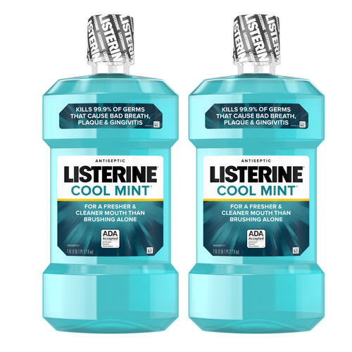 "Listerine Antiseptic Mouthwash Cool Mint 1.0 L ""2-PACK"""
