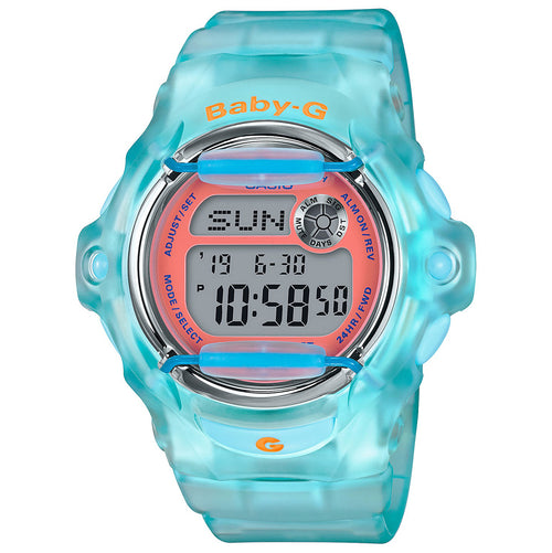 Casio Baby-G Light Blue Resin Strap Dive Watch (BG169R-2C) Women