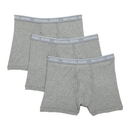 Michael Kors Soft Touch Cotton Modal Trunks 3 Pack Grey Heather