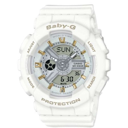 Casio Baby-G Ladies Watch White (BA110GA-7A1CR)