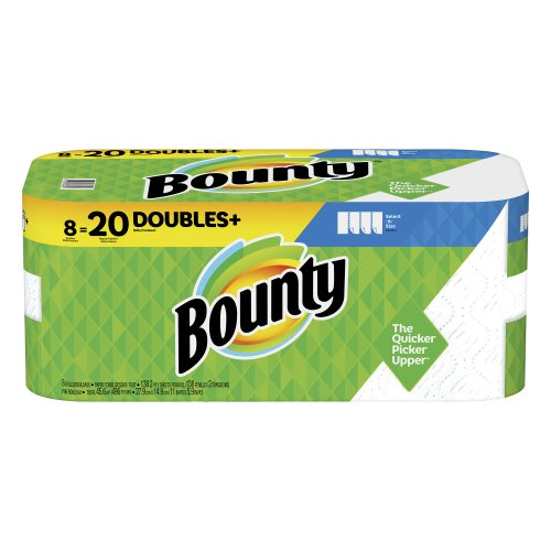 Bounty Select-A-Size Paper Towels White 8=20 Rolls Double Plus