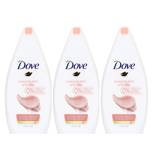 "Dove Body Wash Renewing Glow Pink Clay  500 ml ""3-PACK"""