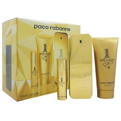 Paco Rabanne 1 Million Fragrance Gift Set 3pc Men