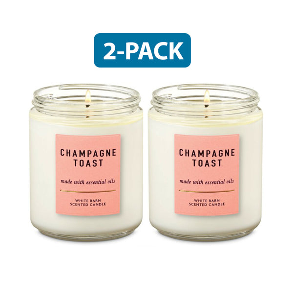 "Bath & Body Works Champagne Toast Scented Candle ""2-PACK"""