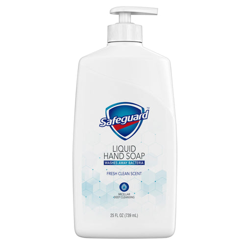 Safeguard Liquid Hand Soap Micellar Deep Cleansing Fresh Clean Scent 25 oz