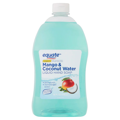 Equate Mango & Coconut Water Liquid Hand Soap 56 oz 1.65 L