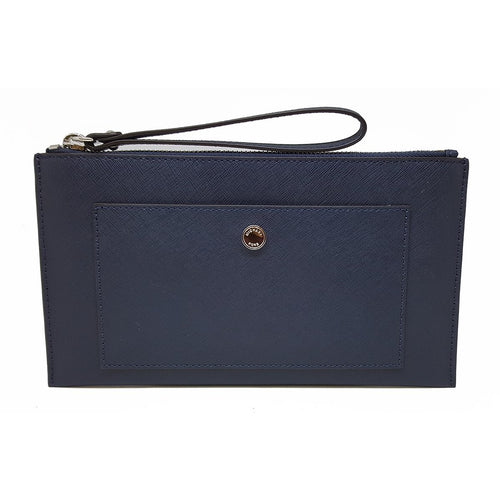 Michael Kors Greenwich LG Snap PKT Zip Clutch Leather Navy (35T7SGRW3L)