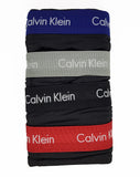 Calvin Klein Men's Underwear Cotton Stretch 4 Pack Boxer Briefs (Black)