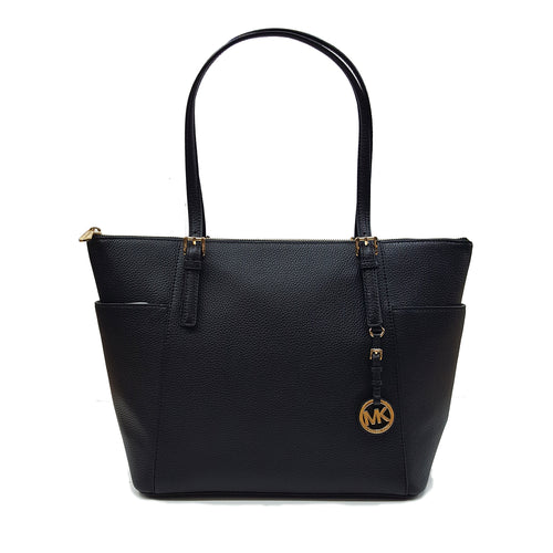 Michael Kors Jet Set  Leather Tote Black (35H7GTTT9L)