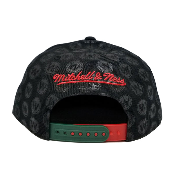 Mitchell & Ness Dark Repeat Snapback Black NBA Teams