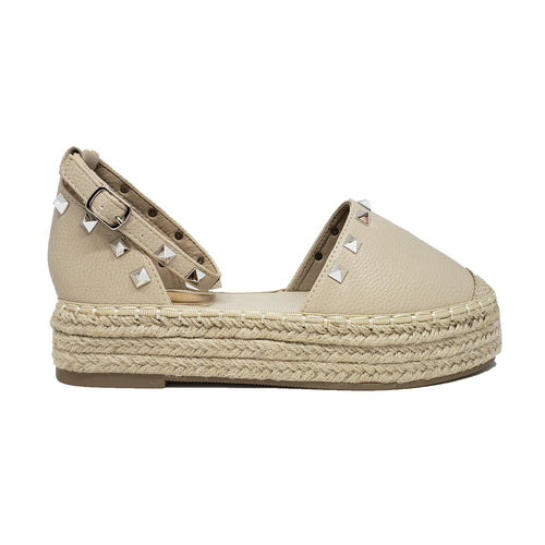 Victoria Adames Beverly Espadrilles Shoes Beige