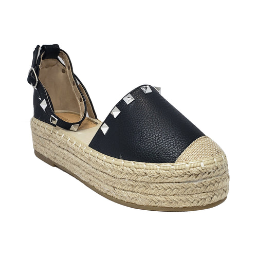 Victoria Adames Beverly Espadrilles Shoes Black