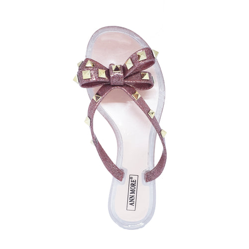 Ann More Genoa Jelly Sandals Glitter