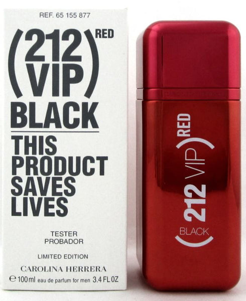 "212 VIP Black Red 3.4 oz 100 ml Men EDP ""Limited Edition""  Tester Box"